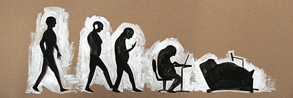 2013 Ink, cutout on cardboard Unknown