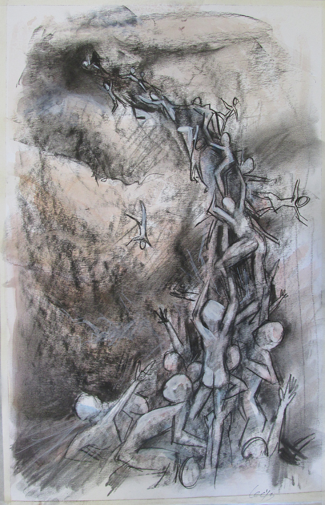 2013 Charcoal conte, watercolor on Bristol 11x17