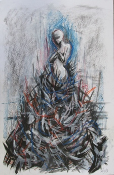 2013 Ink, charcoal, oil pastel on Bristol 11x17