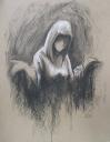 2014 Charcoal on cardboard 16x20