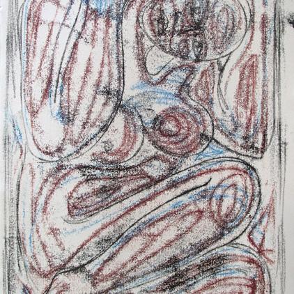2014 Monoprint on BFK paper 10x15