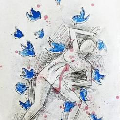 2014 Monoprint drawing 11x17