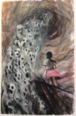 2015 Watercolor, pastel, charcoal, ink on Bristol 11x17