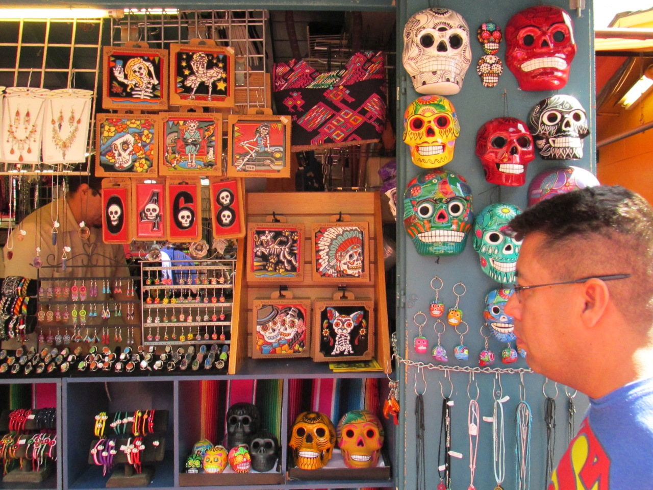 The classic Dia De Los Muerto masks.  These and Las Lucadores masks were not so scarce.