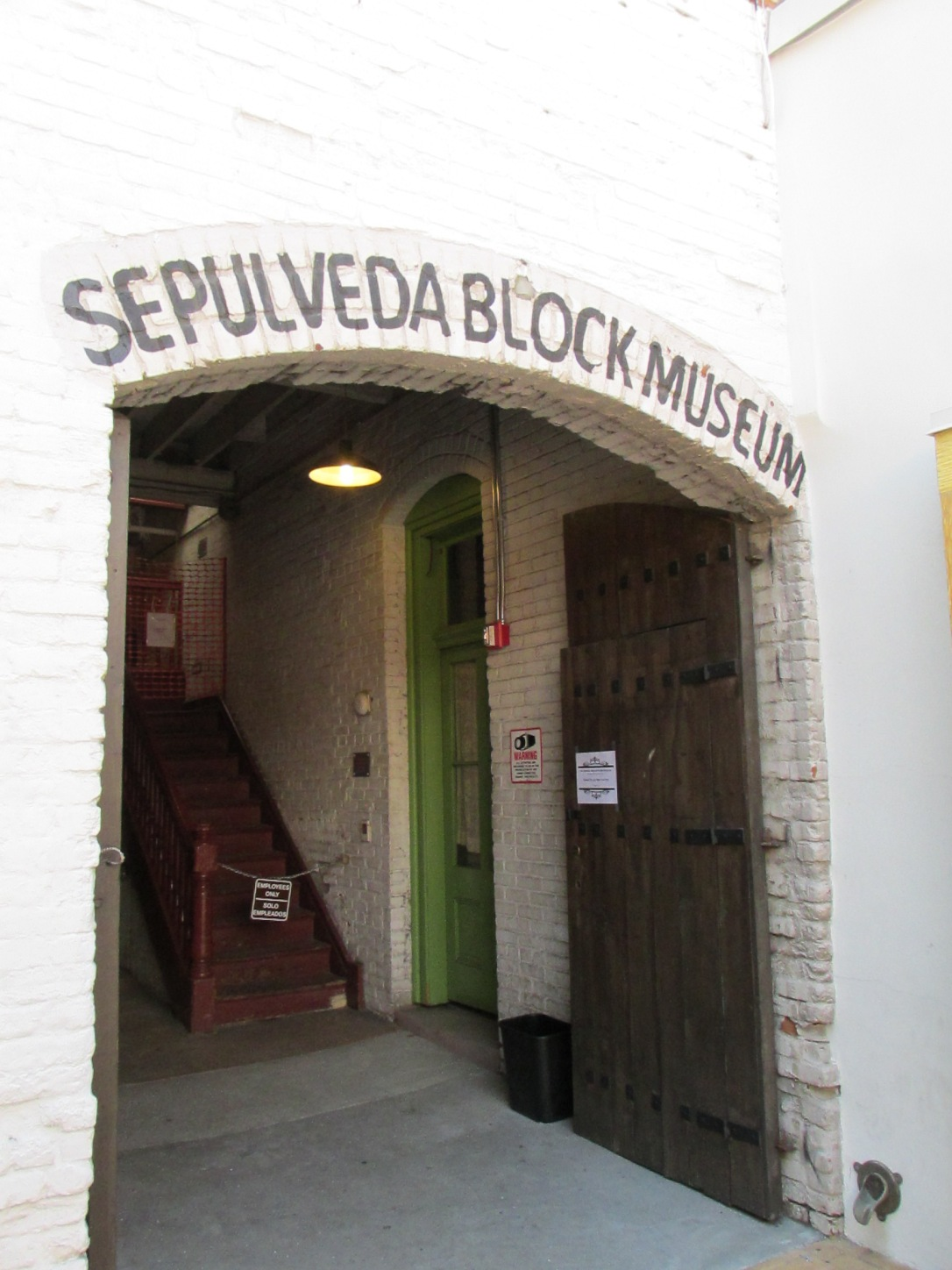 The Sepulveda House.  One of the notable historic buidings of Olvera Street. http://en.wikipedia.org/wiki/El_Pueblo_de_Los_%C3%81ngeles_Historical_Monument#Sepulveda_House