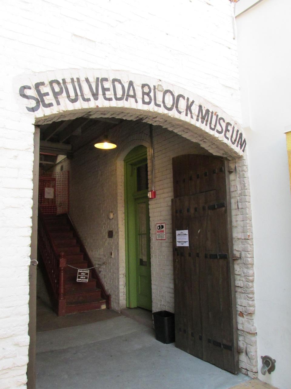 The Sepulveda House.  One of the notable historic buidings of Olvera Street. http://en.wikipedia.org/wiki/El_Pueblo_de_Los_%C3%81ngeles_Historical_Monument#Sepulveda_House