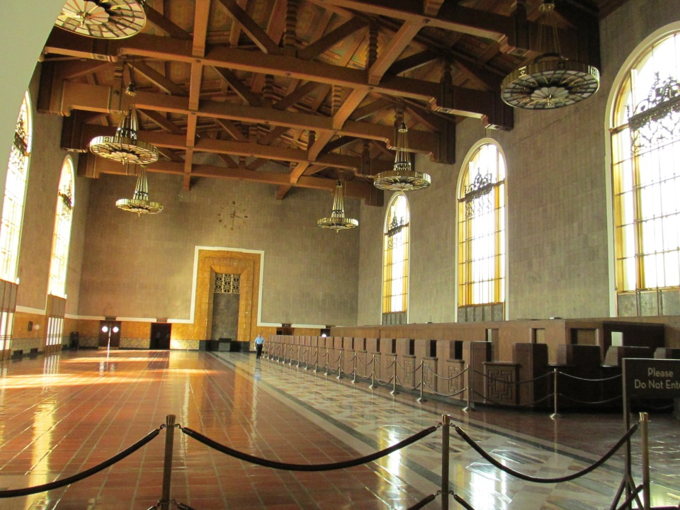 This was the original ticketing hall but it's currently closed off.