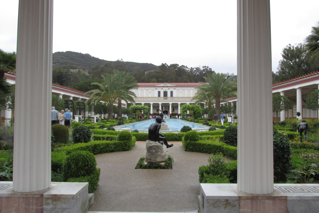 The Outer Peristyle, often the epitome of the Getty Villa