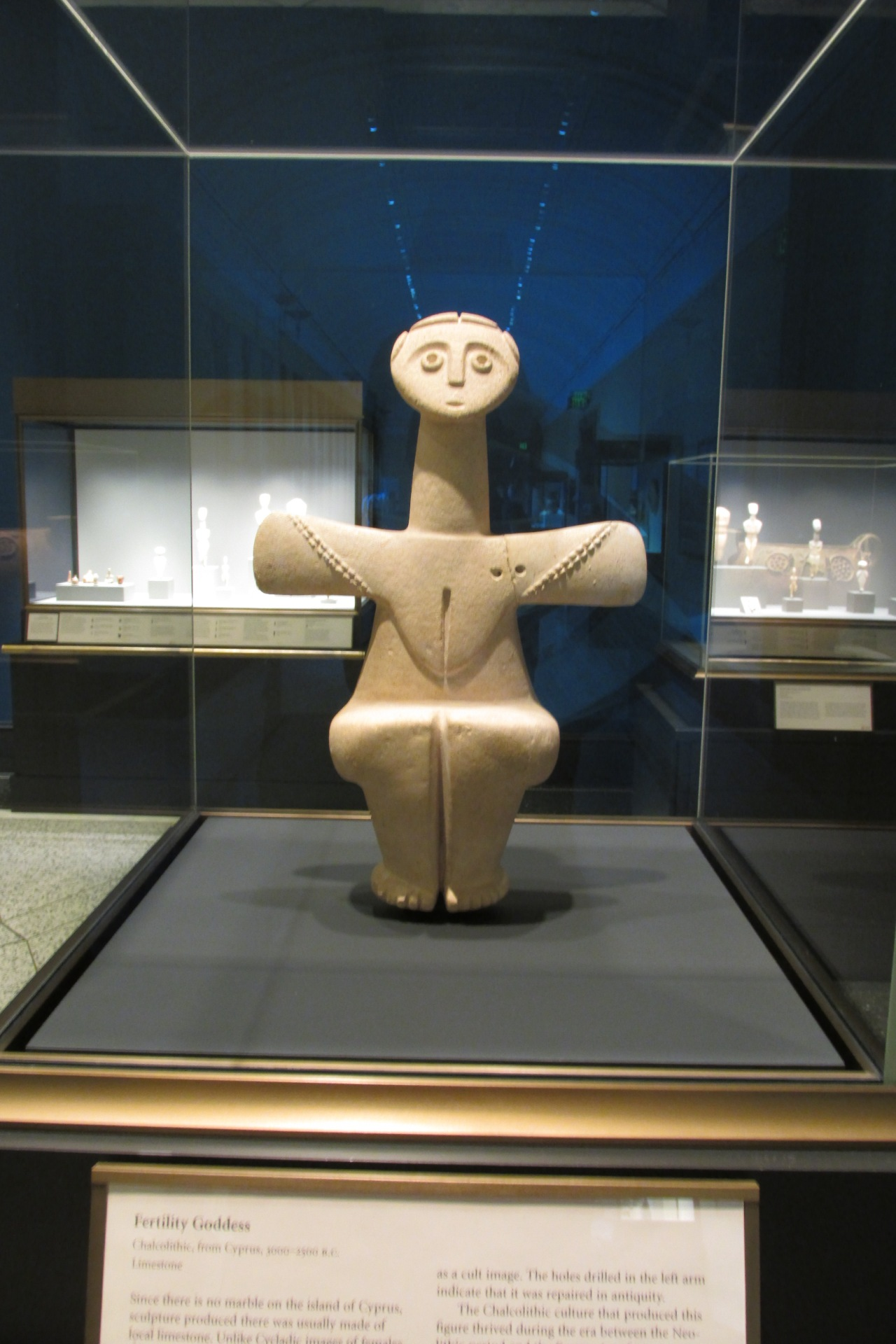 The Fertility Goddess of the Cycladic Age.