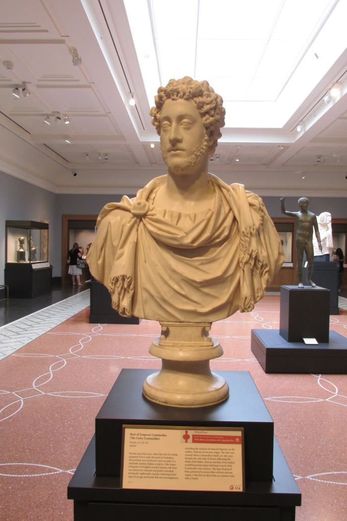The Roman emperor Commodus (yes the real life historical inspiration for the GLADIATOR villain played by Joaquin Phenix.  They do bear some resemblance to one another,dont they?
