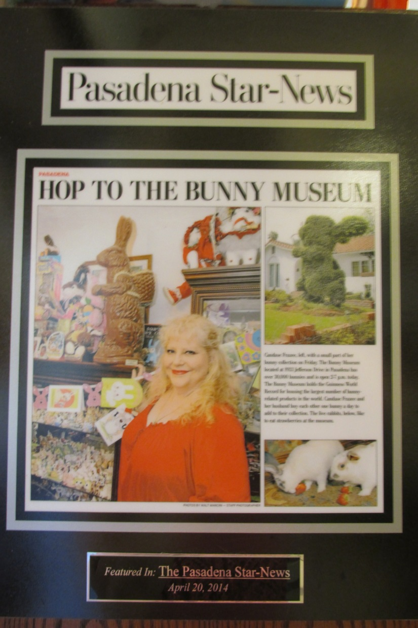 The proud Queen of the Bunnies, Candace Frazee.