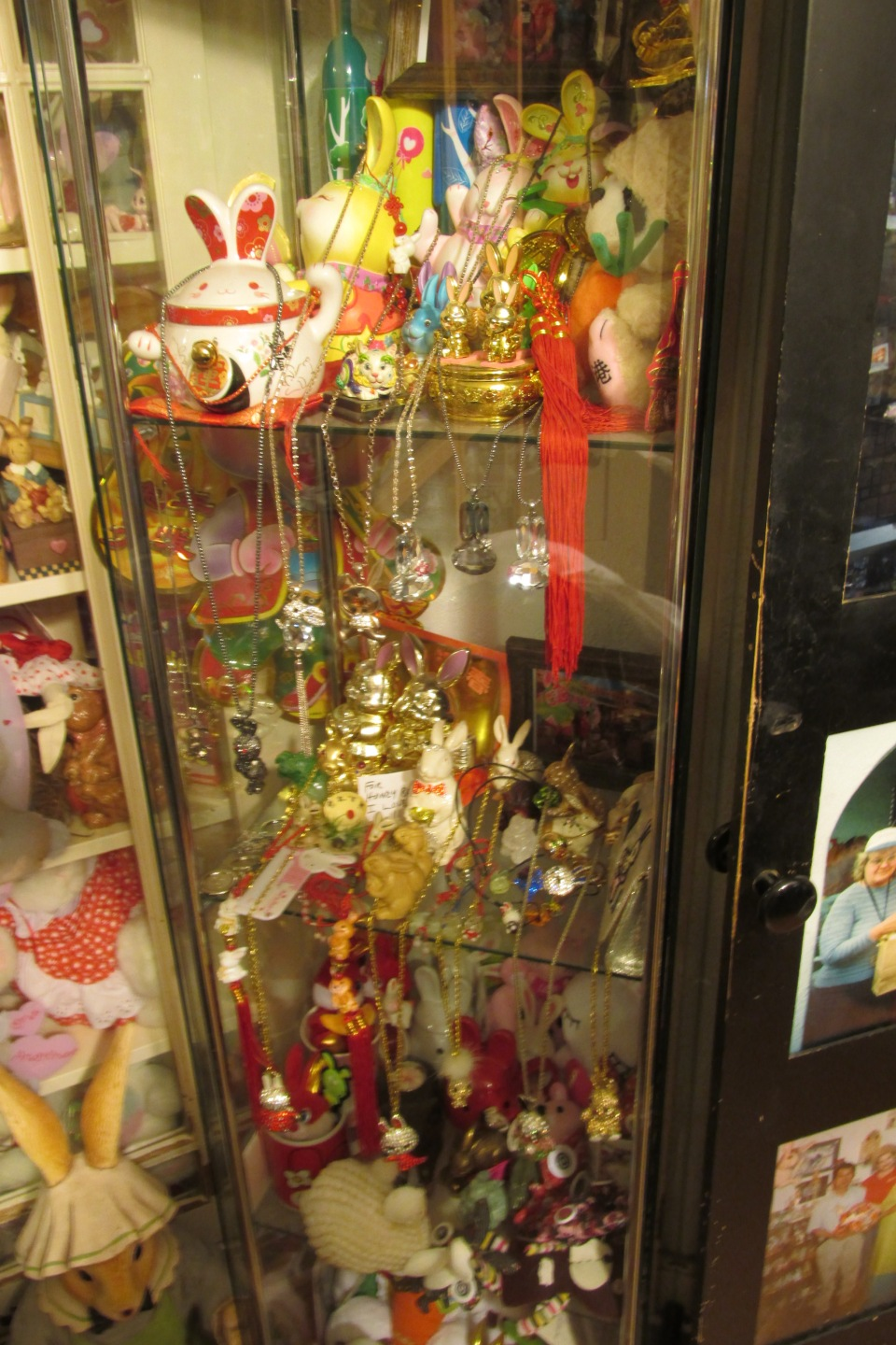 Some sparkly trinkets collected from Hong Kong back when they were celebrating the Year of the Rabbit in 2011.