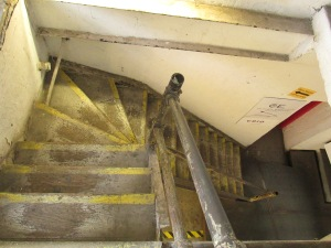 From the Annex you can climb these rather treacherous stairs up to other studios in the building. Watch your step...