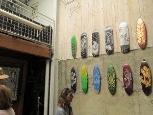 Skateboard art.